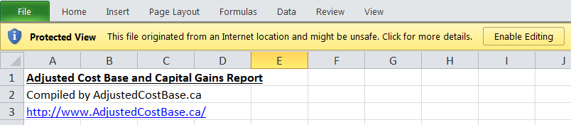 Enable Editing Error in Excel