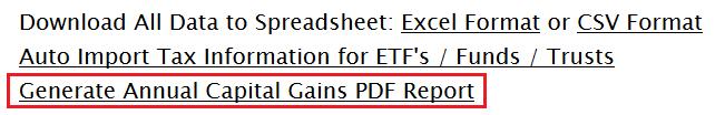 Generate Annual Capital Gains PDF Report Link