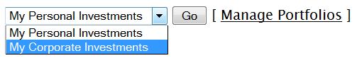 Switch Between Portfolios